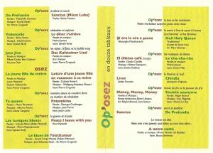 programme Chateau-Salins du 27-9-14